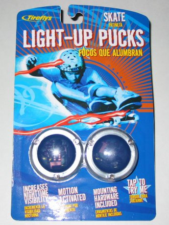 Tireflys - Skate / Scooter Led Light Up Pucks - Uv Blue - 2 Per Package