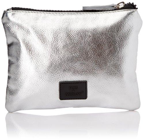 Friis & Company - Pochette Talima Small Clutch, Donna, Argento (Argent (Silver)), Taglia unica
