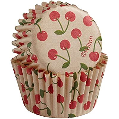 Wilton Baking Cups, Mini, 100-Count, Unbleached Cherry