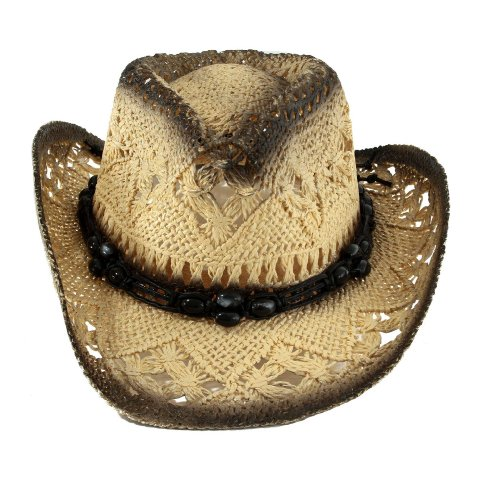 AMC Baby-girls Cowgirl Beaded Band Hat
