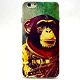 IPhone 4S Case,Lifetrut Brand [Aerospace orangutan Pattern] [Drop Protection] Slim Fit Soft TPU Cover [Shock Absorbent] Armor Bumper Apple iPhone 4/4S Case + 1 X Screen Protector and 1X Stylus Pen