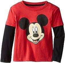 Disney Boys39 Mickey Twofer with Black Sleeves