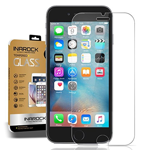 [Lifetime Warranty]InaRock iPhone 6 / 6S Screen Protector. 0.26mm Tempered Glass Screen Protector for Apple iPhone 6 / 6S