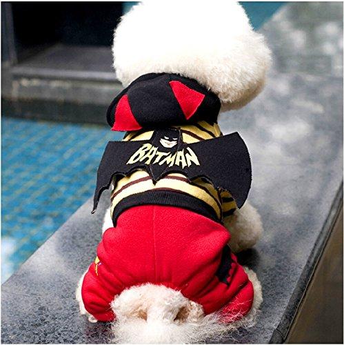 Dog Clothes Costume Batman Style Apparel Winter Warm Clothing Pet Lovely Coat Fashion Design Jumpsuit