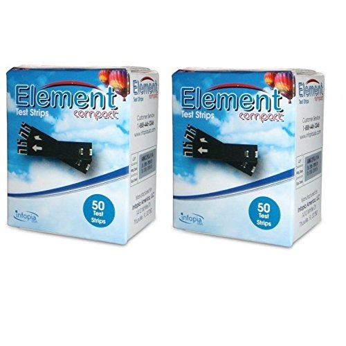 Element Blood Glucose Testing Strips – 2 boxes of 50(100 Count)