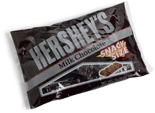Hersheys Snack Size Bars, Milk Chocolate, 10.35-Ounce Bags (Pack of 6)