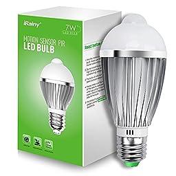 iRainy E27 7W PIR Infrared Sensor Motion Light Bulb, Warm White