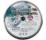 SMARTBUY DVD-R 4.7GB 1-16倍速対応 CPRM対応10枚 デジタル放送録画対応・スピンドルケース入り・インクジェットプリンタでのワイド印刷可能 SCPR16X10PW