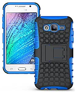 Real Shopping Shock Proof Protective Rugged Armor Super Hybrid Heavy Duty Back Case Cover For Samsung Galaxy J7 - Power Blue