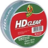 Duck Brand HD Clear High Performance Packaging Tape, 1.88-Inch x 109-Yard Roll, Crystal Clear, Single Roll (1017704)