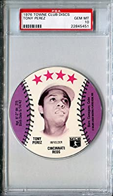 1976 MSA Towne Club Sports Discs TONY PEREZ Rare PSA Gem Mint 10 HOF SP Cincinnati Reds / Boston Red Sox
