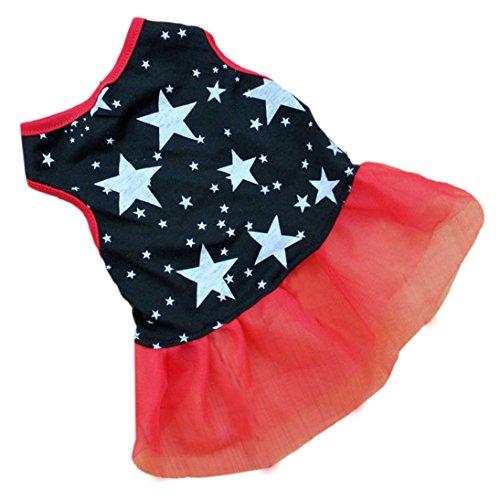 HP95(TM) Hot!Pet Dog Puppy Tutu Princess Dress Dot Lace Skirt Party Costume Apparel (M)