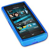 iGloo Rubber Gel Skin Case for Nokia X6 & X6 16GB Comes With Music - Blueby iGloo