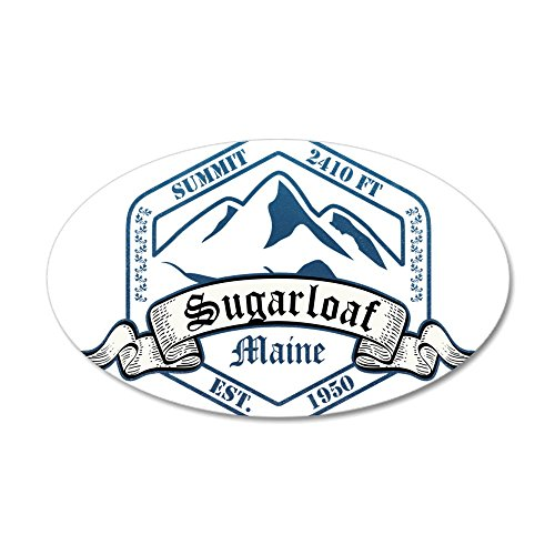 CafePress - Sugarloaf Ski Resort Maine Wall Decal - 35x21 Oval Wall Decal, Vinyl Wall Peel, Reusable Wall Cling (Sugarloaf Decal compare prices)