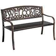 Leigh Country TX 94101 Metal Welcome Bench
