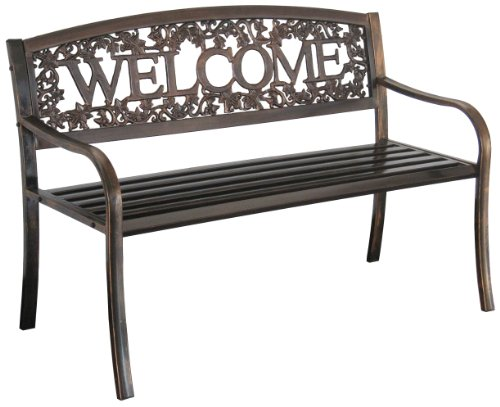 Char-Log Metal Welcome Bench