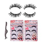 Teenitor 10 Pair Crisscross False Eyelashes Lashes + Stainless Tweezers Combo, Natural Looking Soft With A Flexible Band [Fast Shippng By FBA]