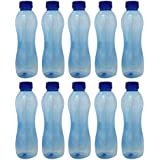 C - Thru PET Fridge Bottle, 1000 Ml, Pack Of 10, Blue