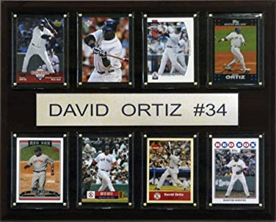 MLB David Ortiz Boston Red Sox 8 Card Plaque