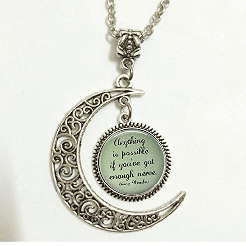 Charm Crescent Moon Ginny Weasley Quote Necklace - Harry Potter Jewelry and Necklace Gifts (Quote Merchandise compare prices)