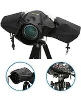 iKross Couverture Anti-pluie Imperméable Étanche - pour caméras appareil photo comme Canon EOS Rebel , FujiFilm FinePix , Nikon D7200 , Olympus EVOLT , Panasonic , Pentax , Samsung , Sony Alpha , et plus....