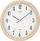 CITIZEN (シチズン) 掛け時計 電波時計 サイレントソーラーM798 木枠 ソーラー電源併用 4MY798-007