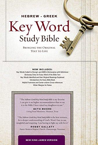 The Hebrew-Greek Key Word Study Bible: NKJV Edition, Burgundy Genuine Leather (Key Word Study Bibles) PDF