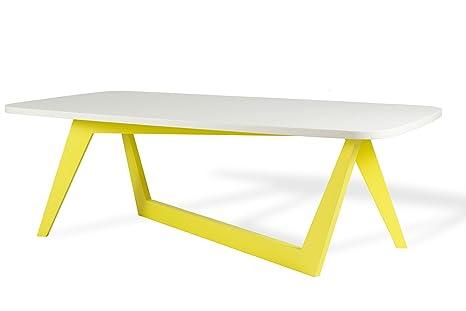 Microstudio - Viceversa: tavolino retangolare da caffè design minimal, legno.