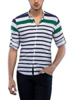 Philip Loren Camisa Hombre (Blanco / Verde Oscuro)