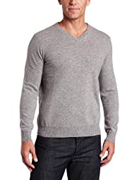 Williams Cashmere Men\'s 100% Cashmere V-Neck Sweater, Hthr Grey, XX-Large
