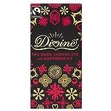 Divine Fairtrade Dark Chocolate - 70% Cocoa Raspberry (100g) 神のフェアトレードダークチョコレート - 70%のココアラズベリー( 100グラム)