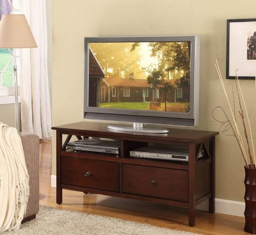 Cheap Linon Home Decor Titian TV Stand (86158ATOB-01-KD-U)
