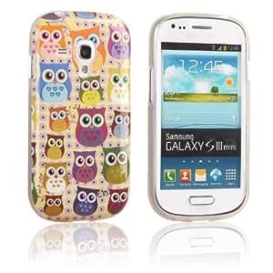 tinxi® Schutzhülle für Samsung Galaxy S3 Mini I8190 Hülle TPU Silikon Rückschale Schutz Hülle Silicon Case viele bunte Eulen Owls