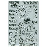 Stampendous SSC072 Baby Invite