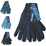 Ladies & Girls Thinsulate Micro Fleece Lined Chunky Knit Thermal Winter Gloves