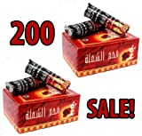Sale Charcoal New! 200 Tablets Hookah Nargila Coals for Shisha bowl Smoking