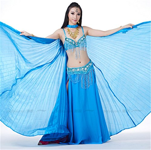 Dreamspell Beautiful Big Isis Wings Lake Blue Transparent for Belly Dance