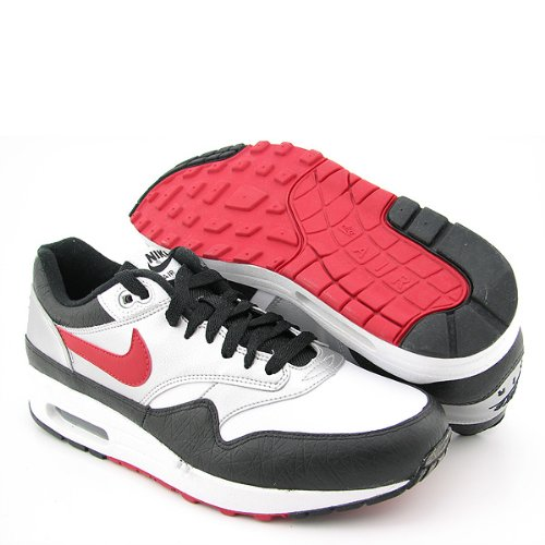 NIKE Air Max 1 New Lace-Ups Silver Mens