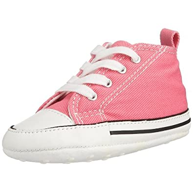Converse All Star Chuck Taylor First Star Toddler Kids Pink High Top Canvas Ankle Trainers 88871 -UK 1