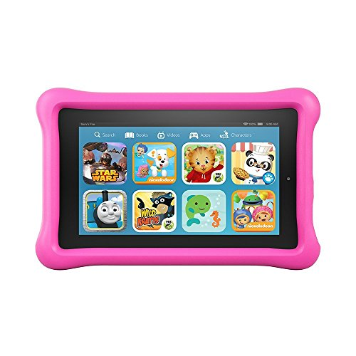 "Fire Kids Edition Tablet, 7"" Display, Wi-Fi, 16 GB, Pink Kid-Proof Case"