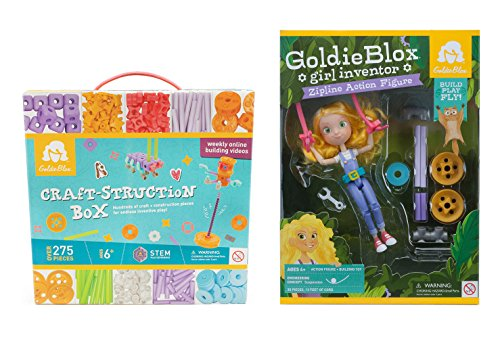 Amazon and Walmart, GoldieBlox: She has Spinning Machine, Parade Float,  Dunk Tank