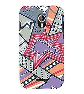 Star Design Pattern 3D Hard Polycarbonate Designer Back Case Cover for Micromax Canvas Magnus A117