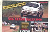 1990 Daihatsu Charade Africa Safari Rally Race Car Brochure