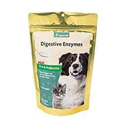 NaturVet Digestive Enzymes Powder Dogs and Cats - 10-Ounce Packet