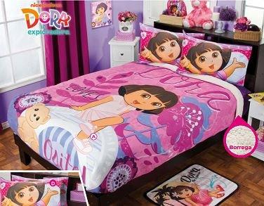 Dora Floral Fuzzy Fleece Blanket Twin/Full/Queen Size
