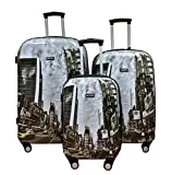 Kemyer 3 Piece Luggage Set Times Square