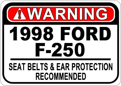1998 98 FORD F-250 Seat Belt Warning Aluminum Caution Sign - 12 x 18 Inches (98 F250 Seat compare prices)