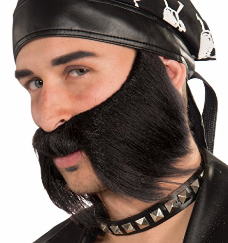 Forum Novelties Men's Bad Biker Novelty Beard