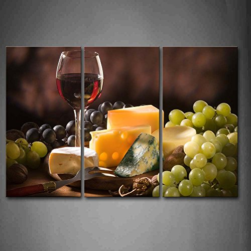 First Wall Art - Cheese With Grape And Wine Wall Art Painting The Picture Print On Canvas Food Pictures For Home Decor Decoration Gift (Cheese Wall Art compare prices)
