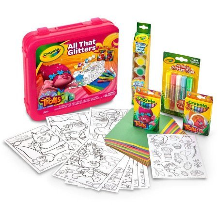 Crayola Dreamworks Trolls All That Glitters Coloring Kit